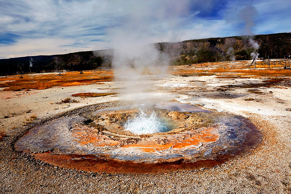 Biscuit Basin. Yellowstone National Park. Wyoming, USA.