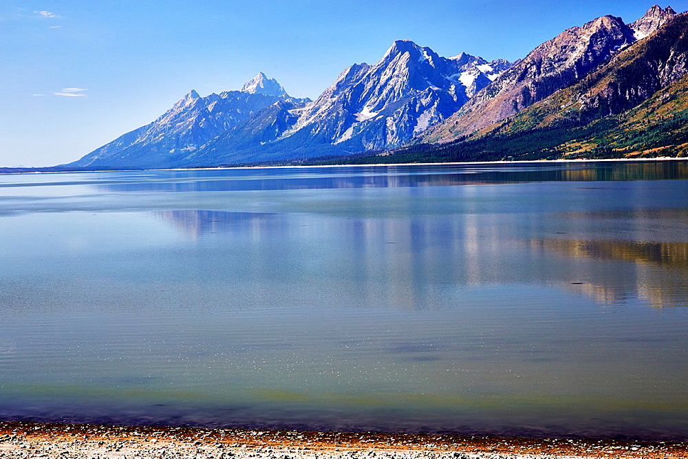 Jackson Lake at Grand Teton national Park. Wyoming, USA.
