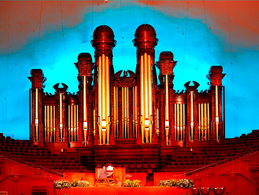 The Tabernacle Pipe Organ. Salt Lake City, Utah, USA.
