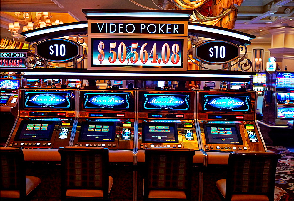 Slot Machines at Bellagio Casino. Las Vegas, Nevada, USA.