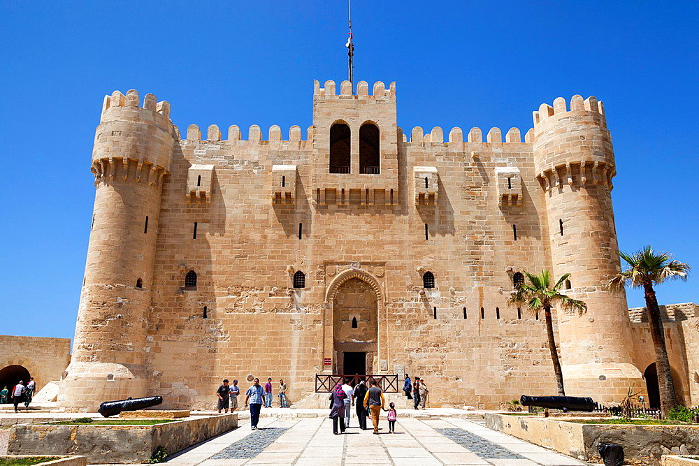 Citadel of Qaitbay, also known as Fort of Qaitbay, Alexandria, Egypt.