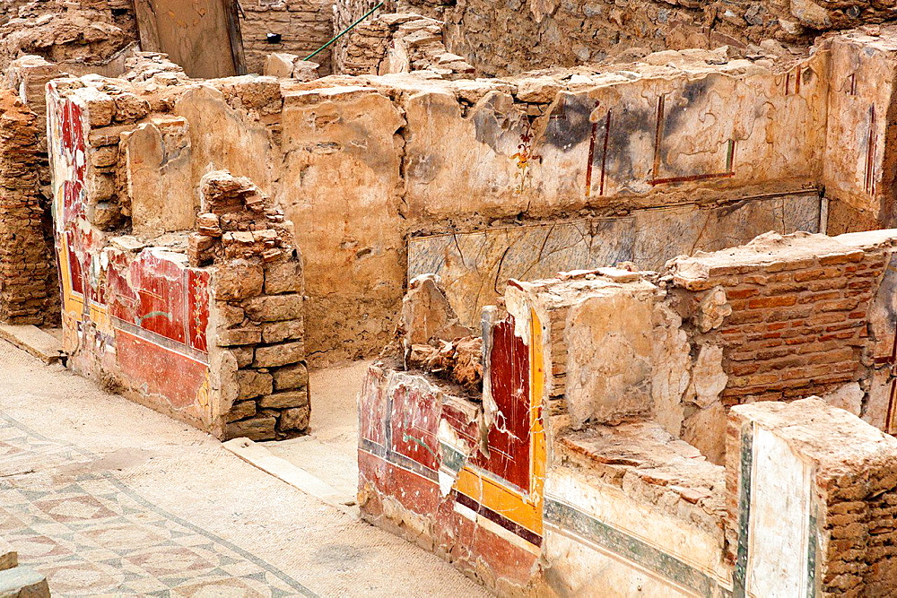 A room inside one of the terrace houses, Ephesus, Turkey.