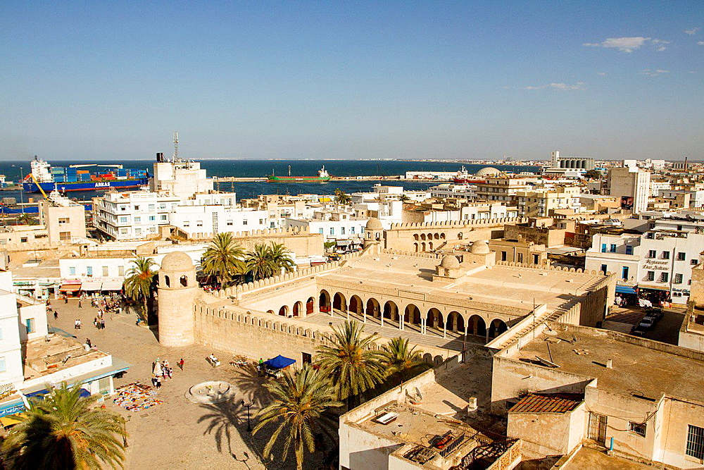 Panoramic view of Sousse, Tunisia.