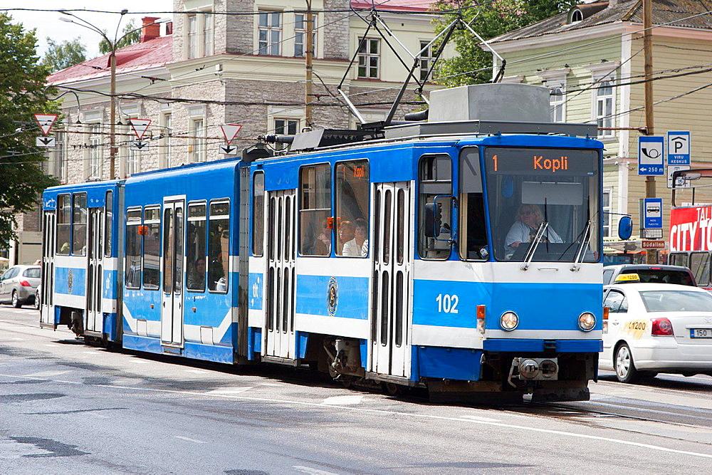 Tram, Tallinn, Harju, Estonia.