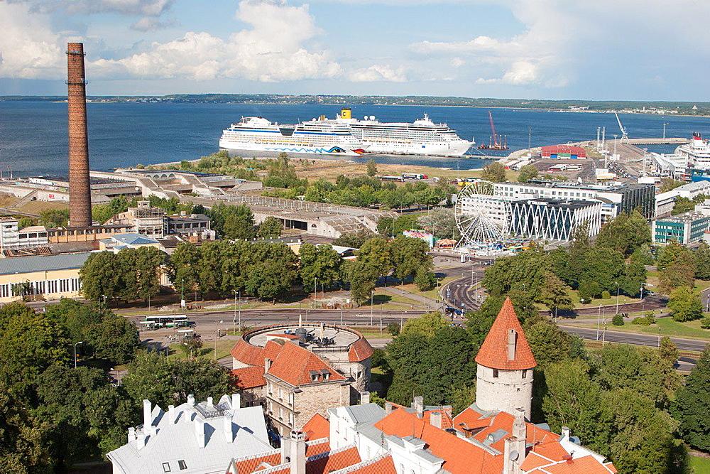 View of Tallinn, Tallinn, Harju, Estonia.