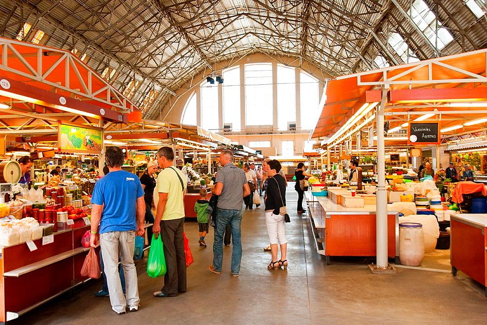 Central Market Pavilions, Riga, Latvia.
