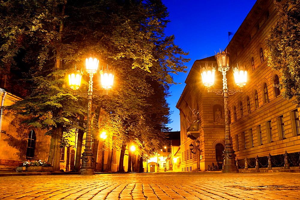 Klostera Street, Saeima (Parliament of Latvia) Riga, Latvia.