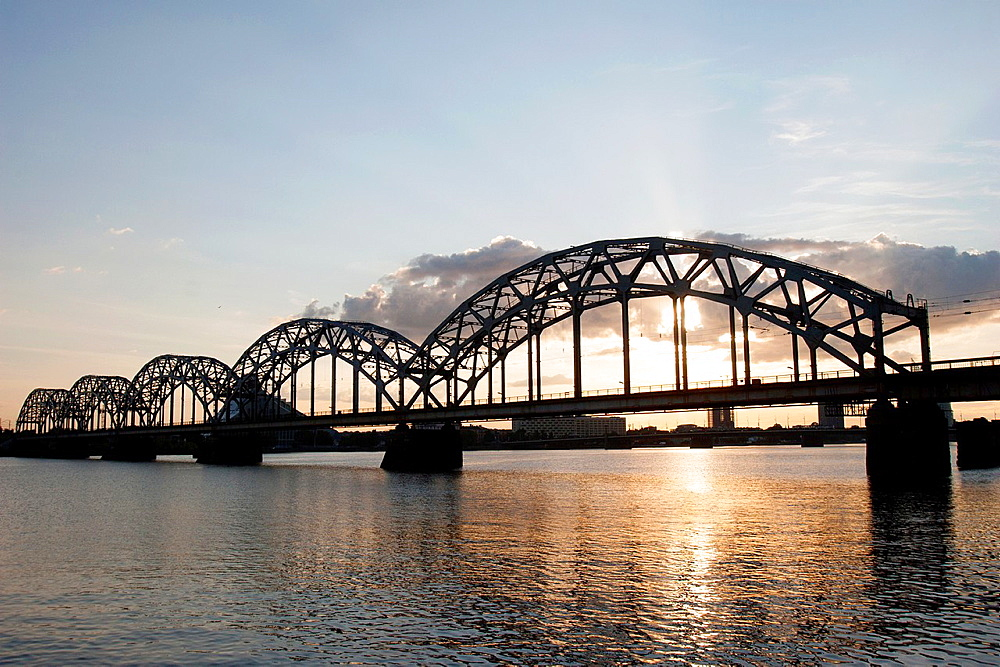 Railway Bridge, Riga, Latvia.