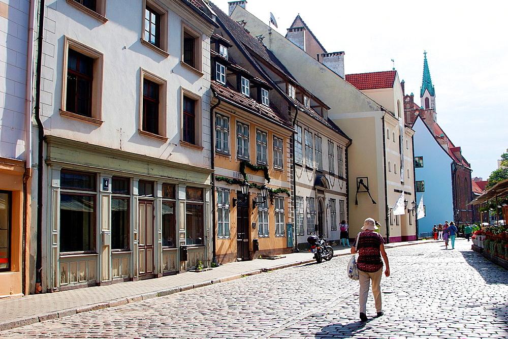 Skarnu Street, Riga, Latvia.