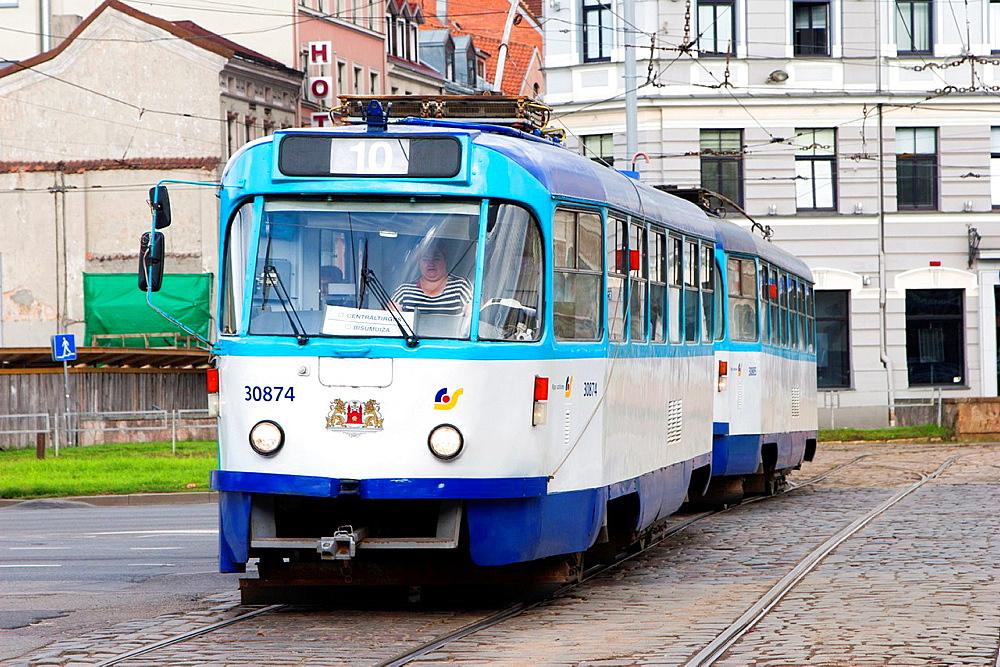Tram, Riga, Latvia.