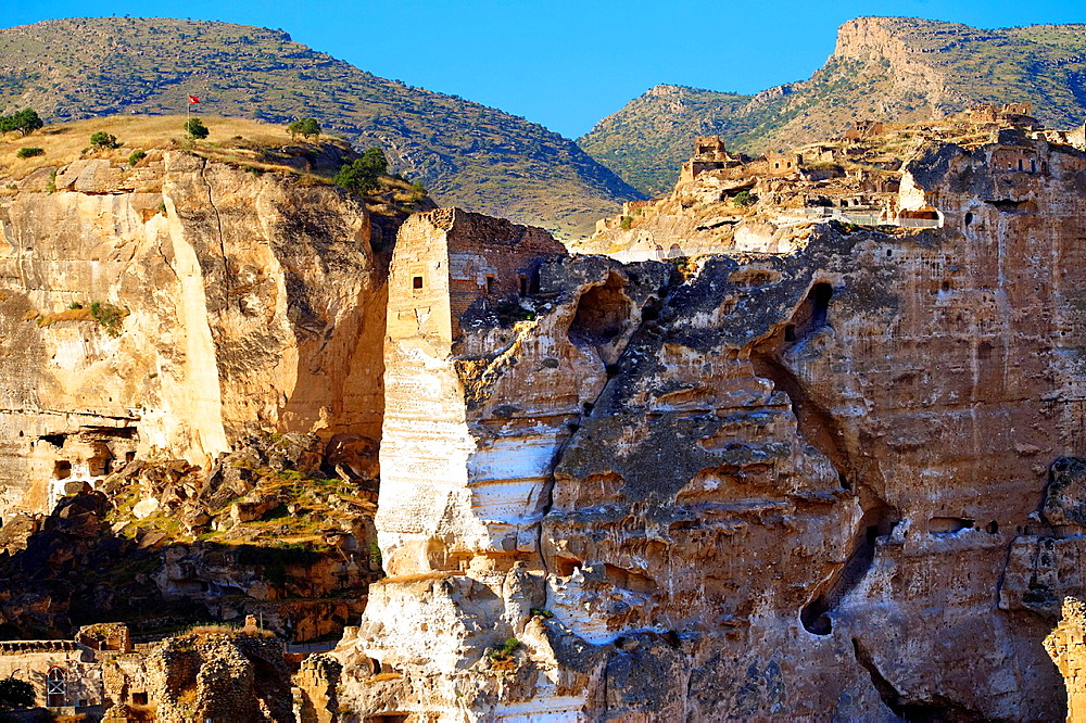 Ruins of the Ayyubids Small Palace in the citadel of ancient Hasankeyf overlooking the Tigris River. Turkey 15.