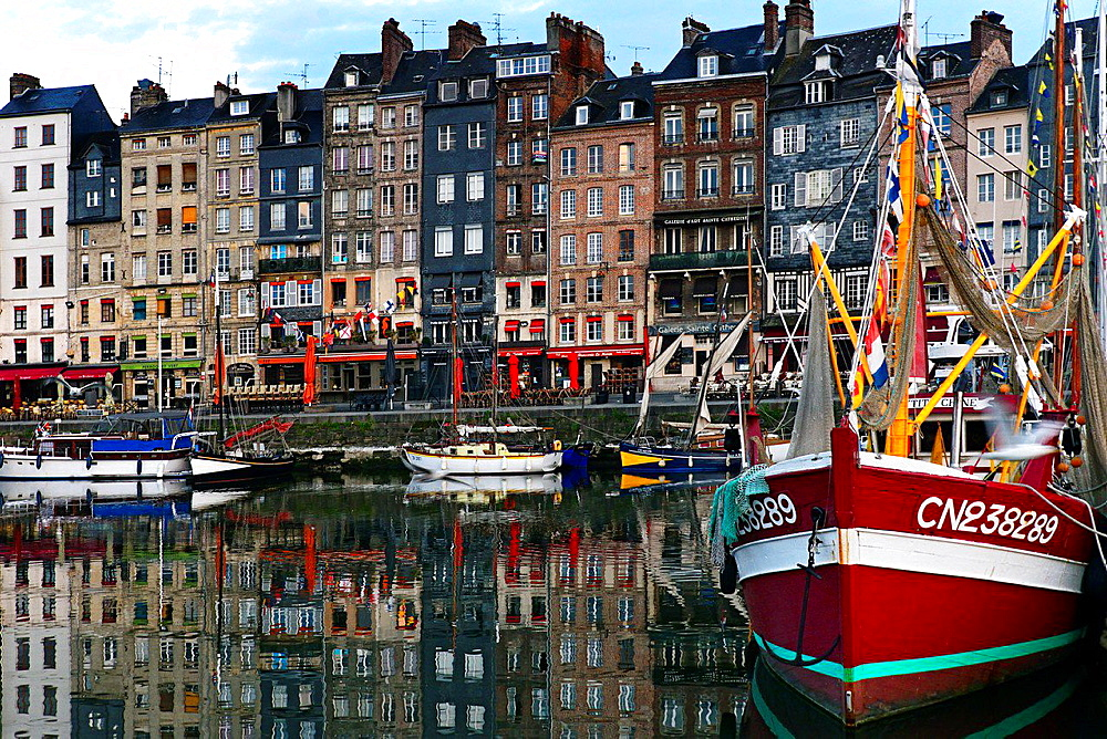 Vieux Bassin, Honfleur, Calvados, Normandy, France.