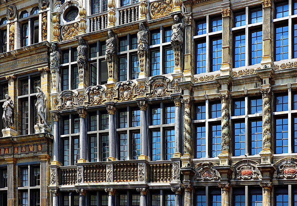 Architecture details, Grand Pace, Brussels, Belgium.