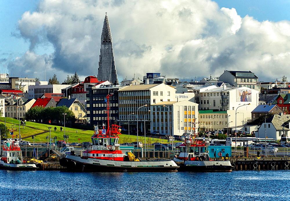 urban landscape of Reykjavik, Iceland. - 817-458803