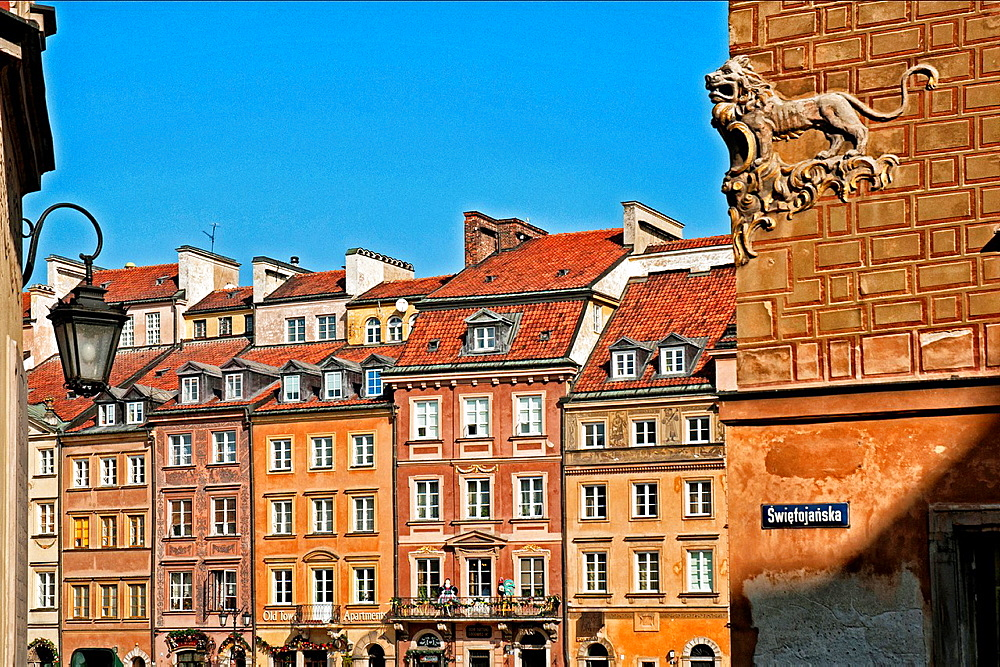 Old town square, Warsaw, Poland, UNESCO heritage.