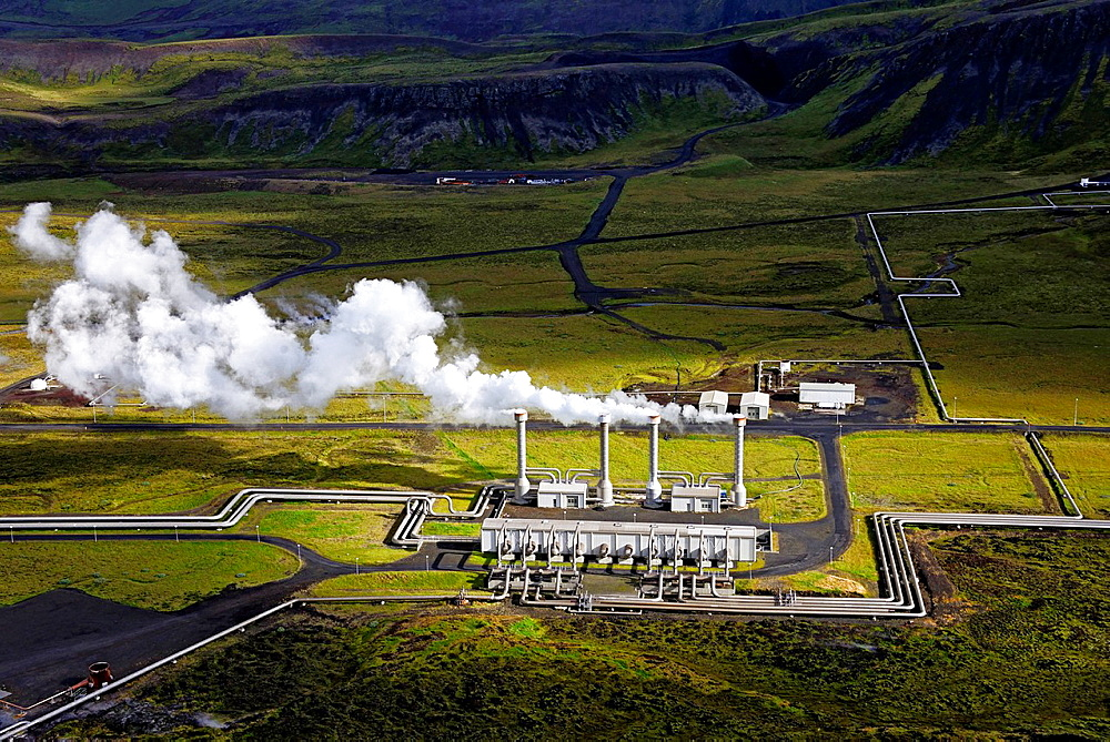 Nesjavellir geothermal station, Iceland.