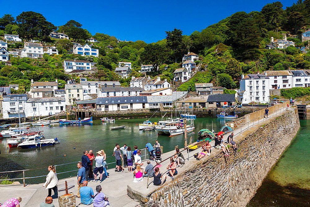 The coastal village of Polperro in Cornwall, England, United Kingdom, Europe.