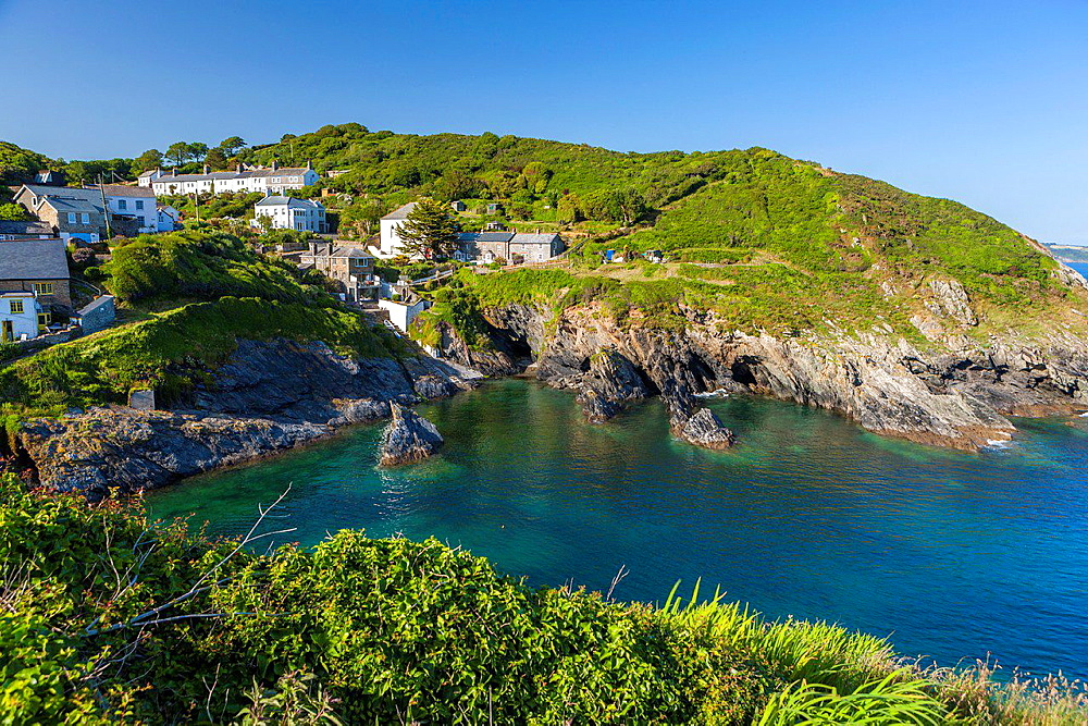 The Cornish coastal village of Portloe, South Cornwall,, England, United Kingdom, Europe.