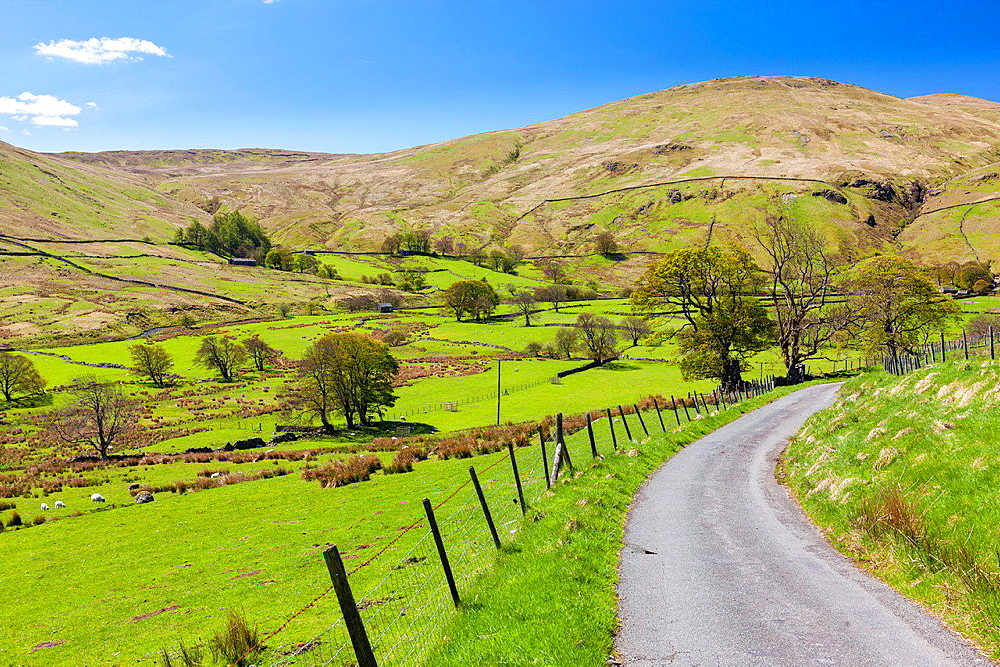 Cumbrian landscape near Dockray, Lake District National Park, Cumbria, England, UK, Europe.