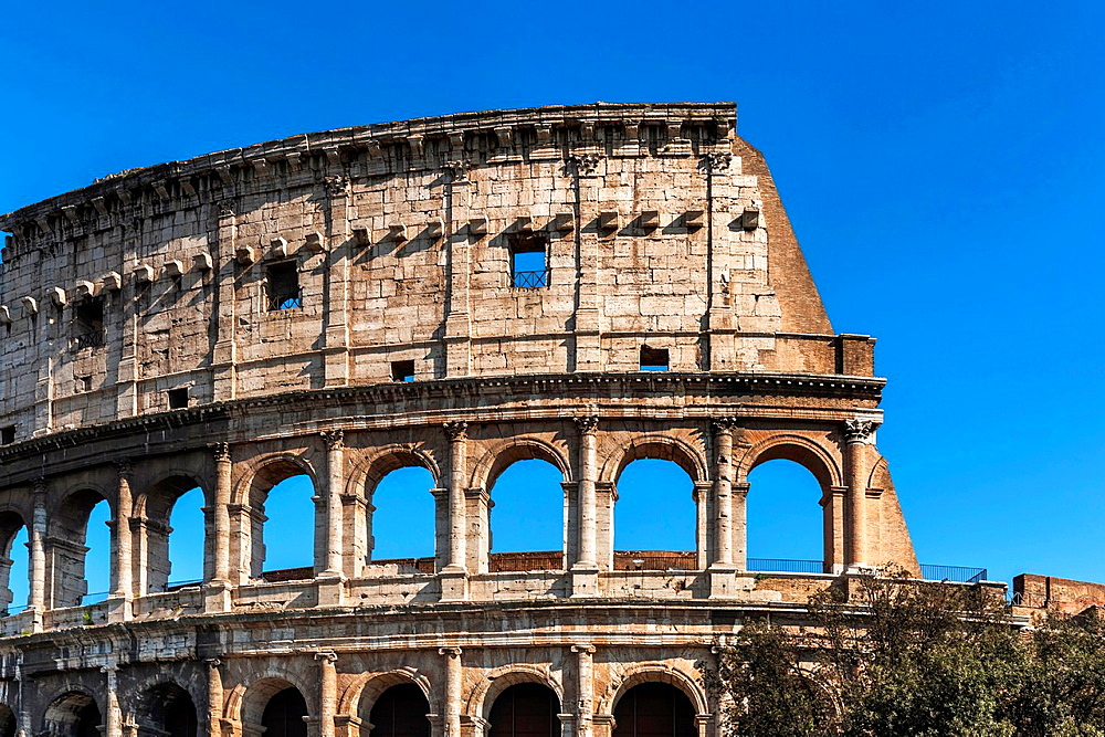The Colosseum is the largest amphitheater built in ancient Rome. It was built from 72 to 80 AD. It is today the symbol of the city of Rome, Lazio, Italy, Europe.