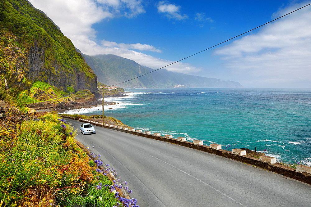The road from Sao Vicente to Ponta Delgada, Madeira, Portugal.