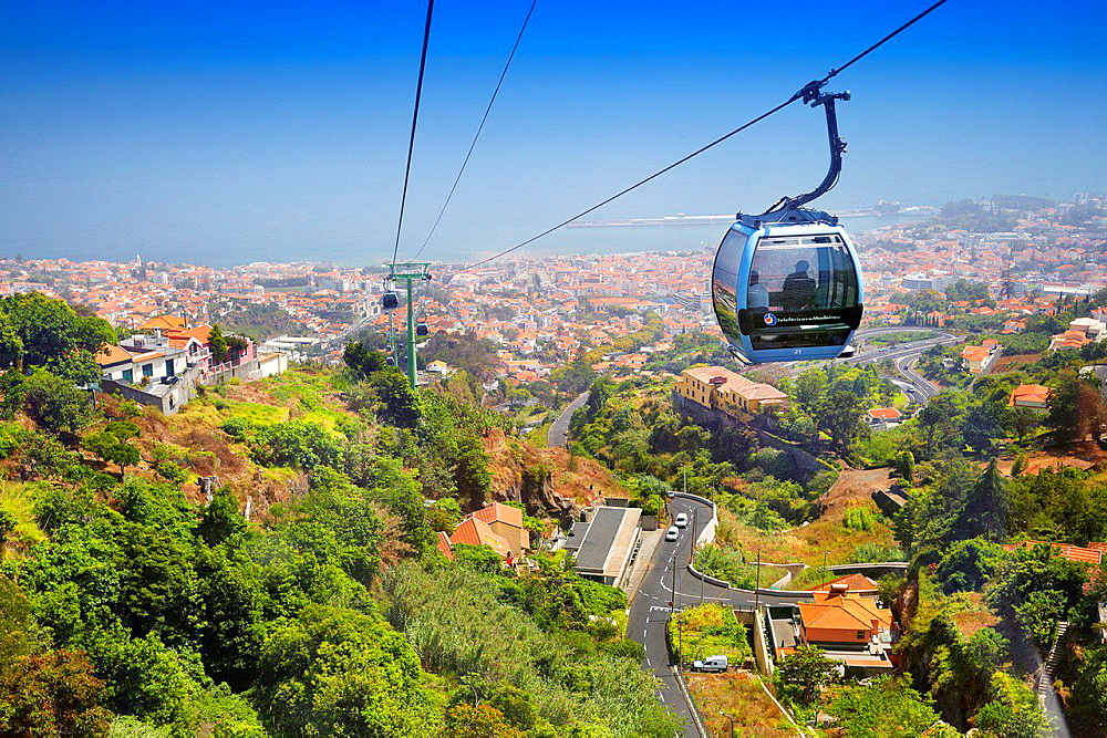 Cable car to Monte, Funchal, Portugal.