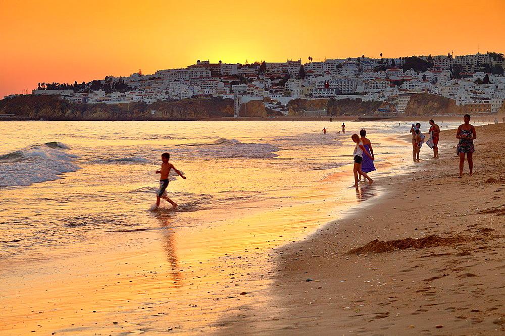 Albufeira Beach, Algarve coast, Portugal.