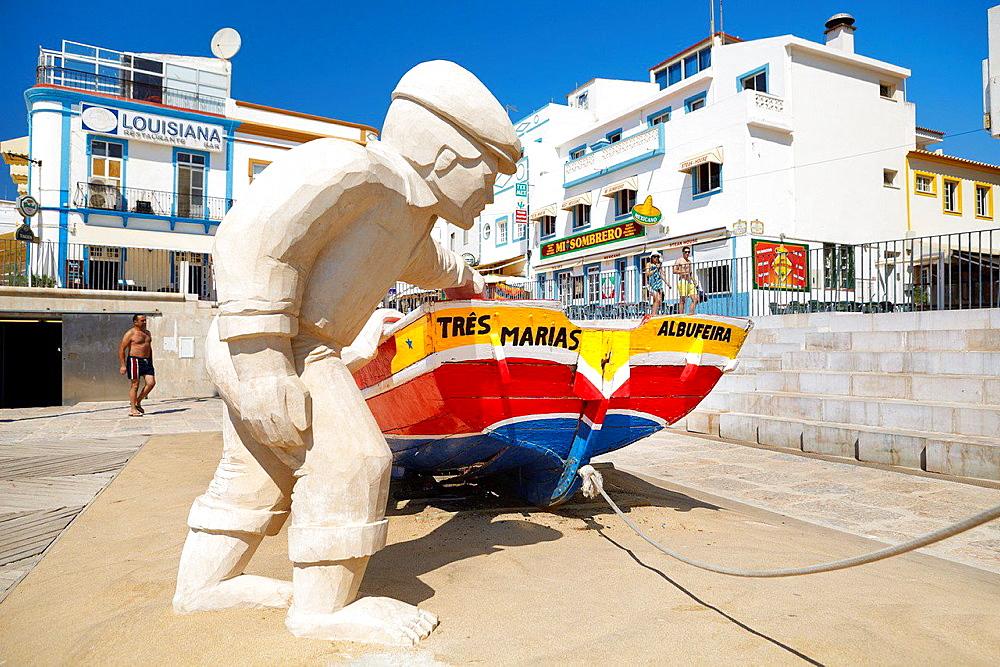 Albufeira old town, Algarve, Portugal.