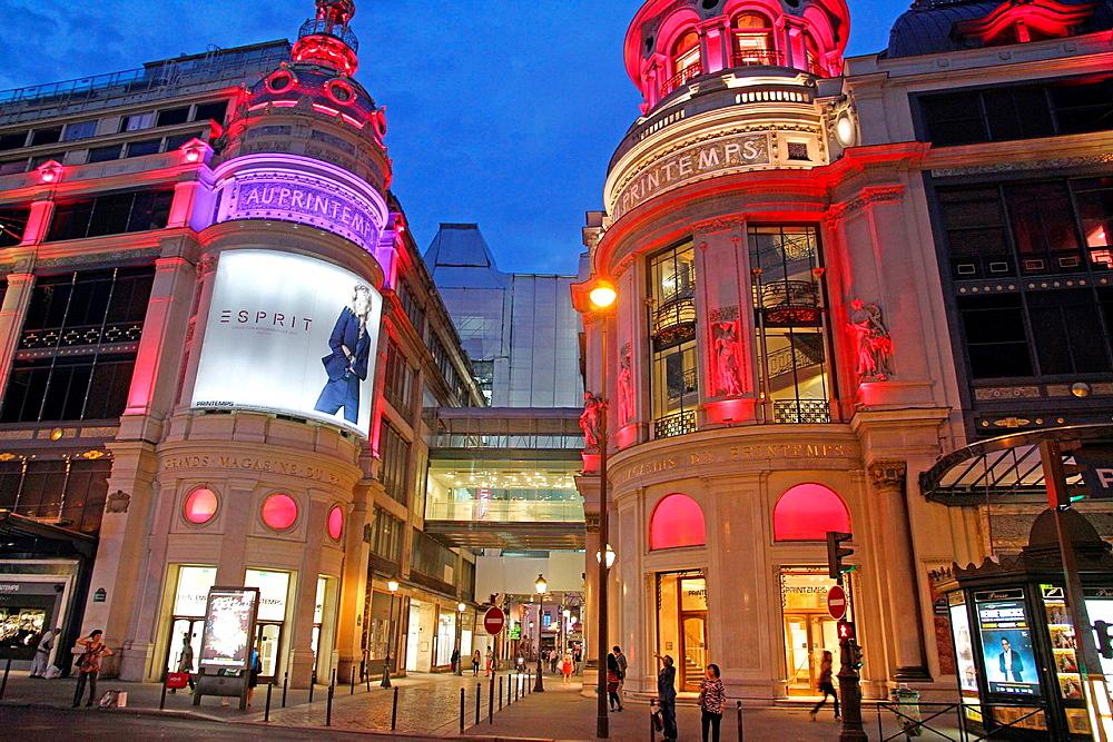 Au Printemps, old department store , Boulevard Haussmann, Paris, France.