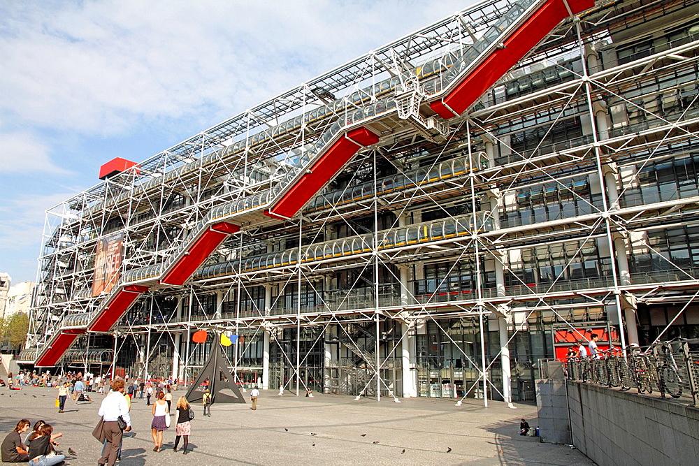 The Pompidou Centre, museum in Paris, France.