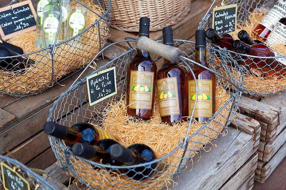 Drink of Normandie, Honfleur, Calvados, Basse Normandie, France.