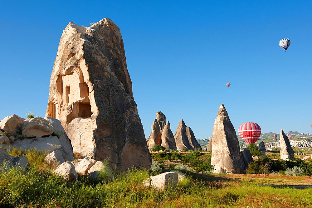 Fairy Chimneys near Goreme [ Goreme ] , Cappadocia Turkey.