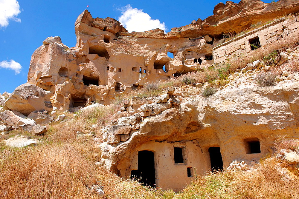 Rock Houses of Cauvsin, Cappadocia Turkey.