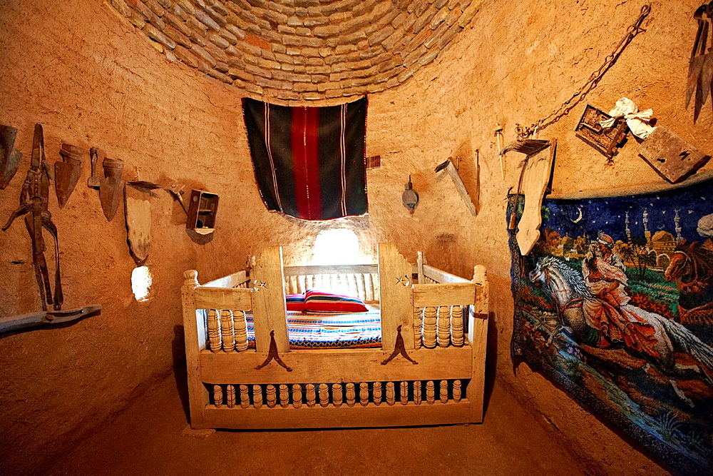 a beehive shaped adobe buildings of Harran, south west Anatolia, Turkey. Harran was a major ancient city in Upper Mesopotamia Turkey, 24 miles 44 kilometers southeast of Urfa.