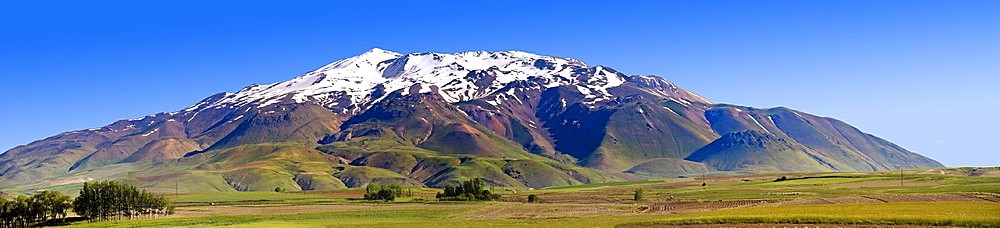Mount Saphan, the second highest Volcano in Turkey After Arat at 4058m. North Shore of Lake Van, Turkey
