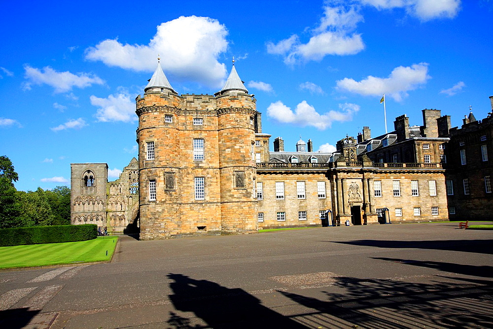 The Palace of Holyroodhouse, referred to as Holyrood Palace.