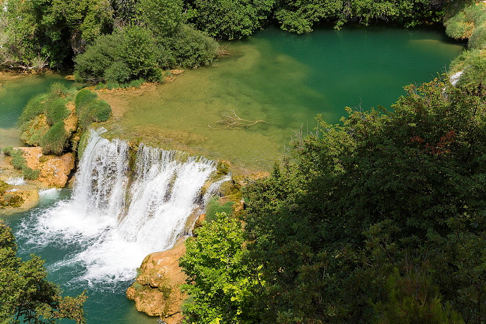 waterfall in Krka National Park, Croatia.