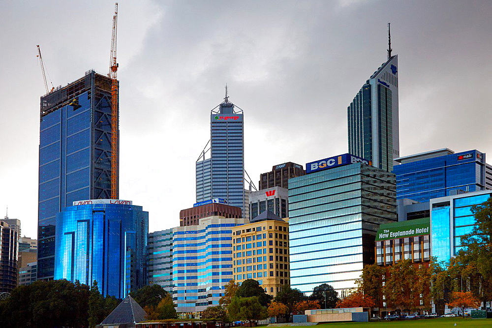 City Centre Skyline, Perth, Australia.
