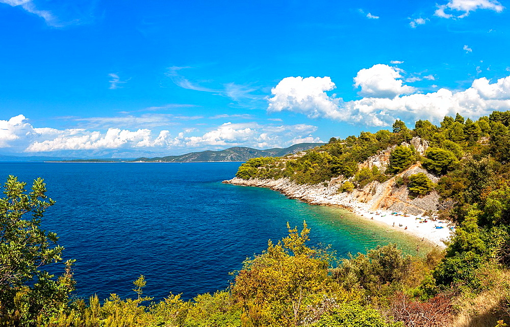 Vaja bay near Racisce on Korcula island, Croatia.