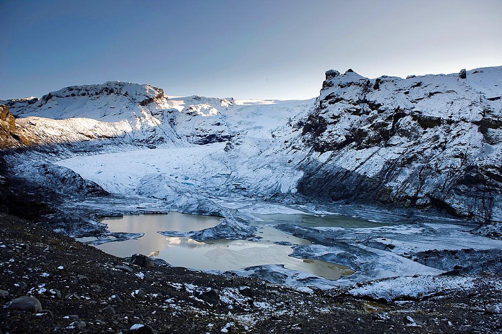 Steinsholtsjokull Glacier, Iceland.