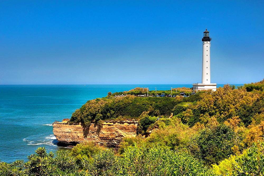 The Lighthouse of Biarritz, Basque Coast, Biarritz, Aquitaine, Basque Country, Pyrenees-Atlantiques, 64, France.