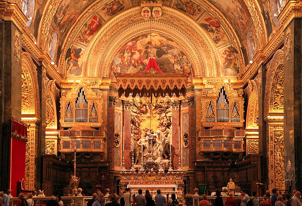 Malta, Valletta, St John's Co-Cathedral, interior.