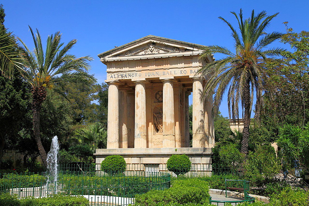 Malta, Valletta, Lower Barrakka Gardens.