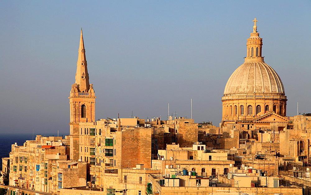 Malta, Valletta, St Paul's Pro-Anglican Cathedral, Carmelite Church.