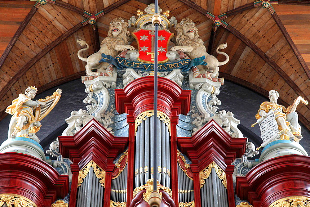 Netherlands, Haarlem, St Bavo Church, organ.