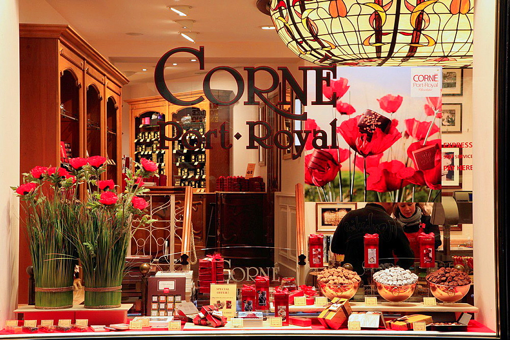 Belgium, Brussels, chocolate shop, Galeries St-Hubert.