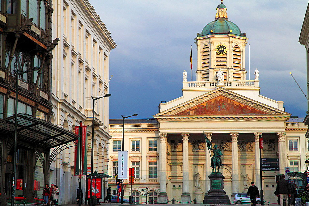 Belgium; Brussels; St-Jacques-sur-Coudenberg, church, Place Royale.