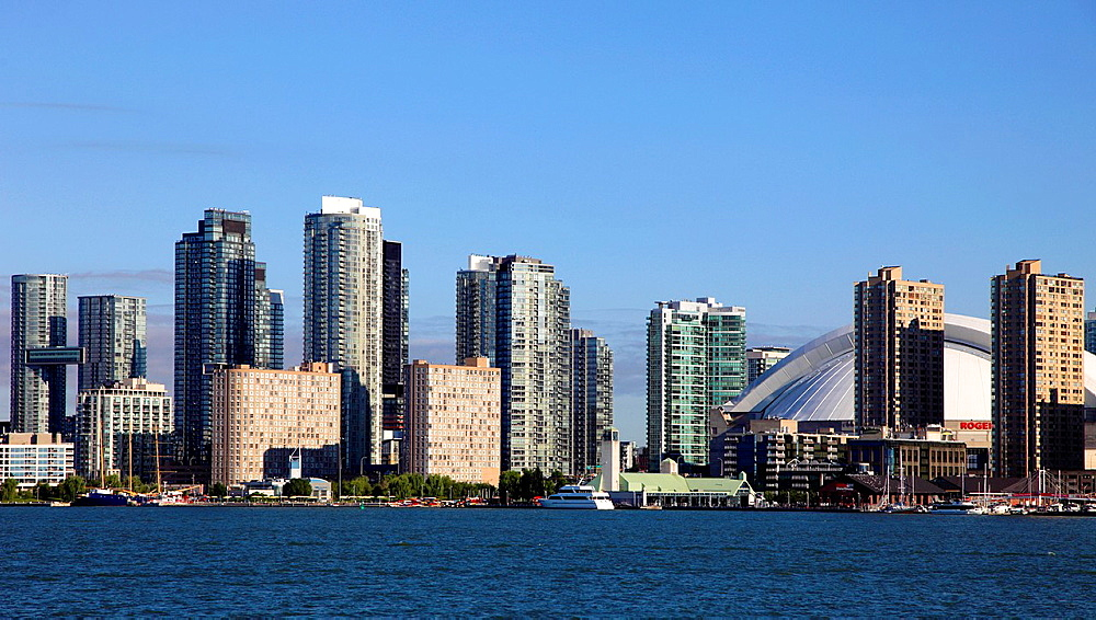 Canada, Ontario, Toronto, Harbourfront, skyline,.