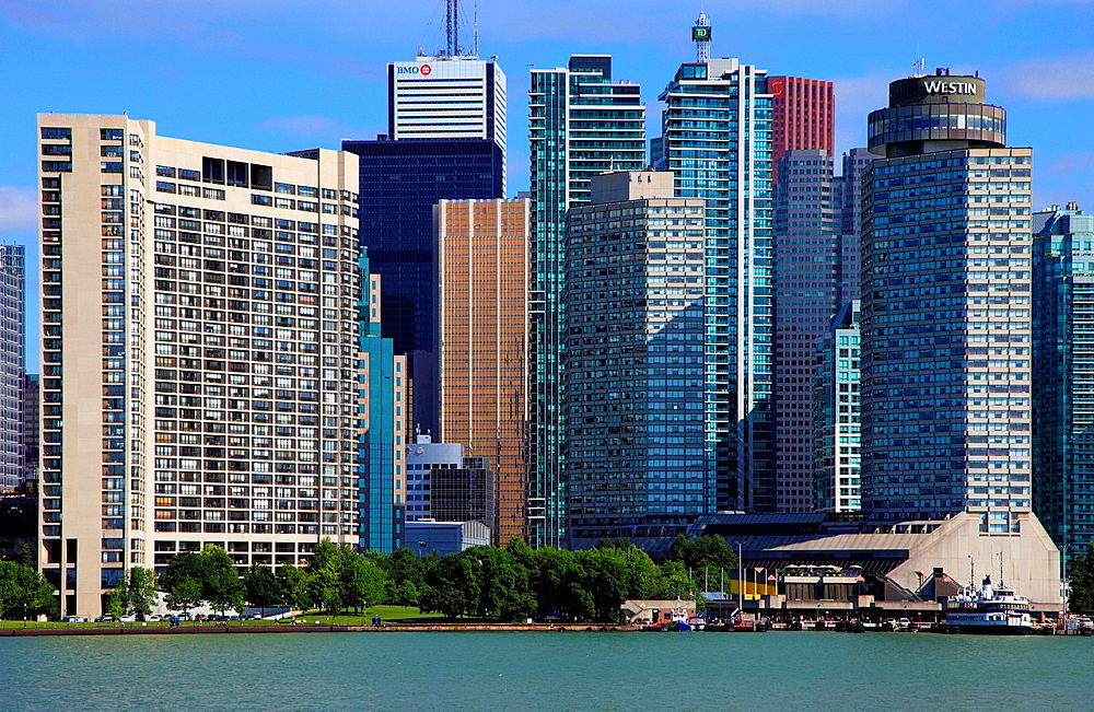 Canada, Ontario, Toronto, Financial District, Harbourfront, skyline,.