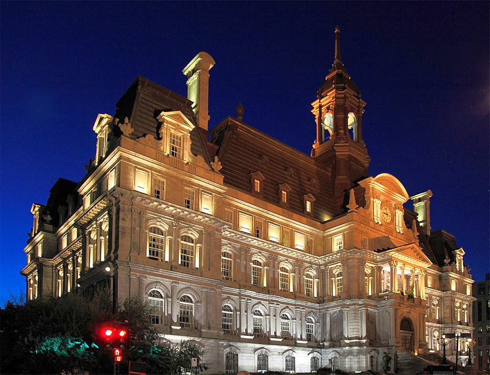Canada, Quebec, Montreal, City Hall,.